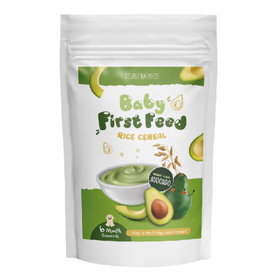 DOUBLE HAPPINESS BABY FIRST FEED RICE CEREAL AVOCADO 200G