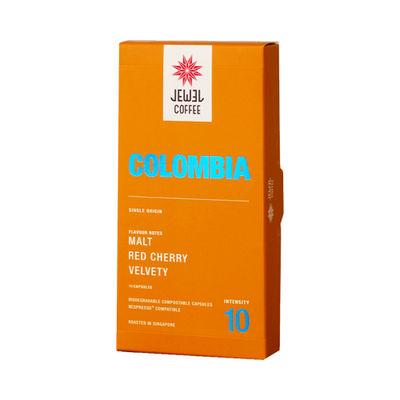 JEWEL COFFEE COLOMBIA COFFEE CAPSULE 10PCX5.4G