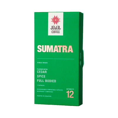 JEWEL COFFEE SUMATRA COFFEE CAPSULE 10PCX5.4G