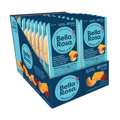 BELLA ROSA SHARP CHEDDAR CHEESE MIXED NUT & FRUIT 43G