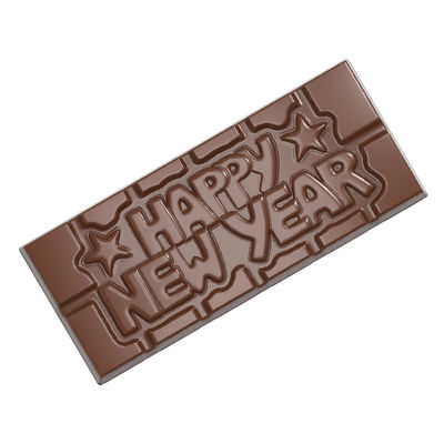 CHOCOLATE WORLD TABLET CHOCOLATE MOULD HAPPY NEW YEAR 4CAV CW12026