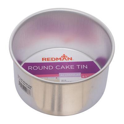 "REDMAN ROUND CAKE TIN ALUM ANODIZED 5""X3"""