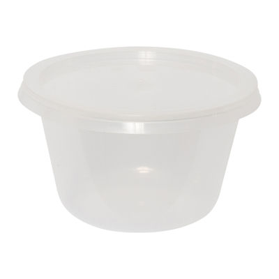 PP PLASTIC MICROWAVABLE CONTAINER 175ML ╪87MMX51MM 100PC