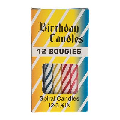 "REDMAN BIRTHDAY CANDLE 3.5"" 12PCS"