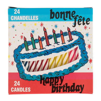 REDMAN BIRTHDAY CANDLE 2.5 24PCS