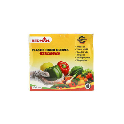 REDMAN DISPOSABLE GLOVES FREE SIZE 100PC