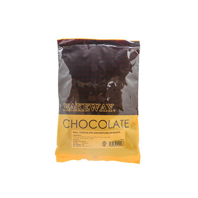 BAKEWAY MILK CHOCOLATE COUVERTURE DROPLETS 1KG