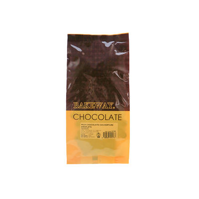 BAKEWAY MILK CHOCOLATE COUVERTURE DROPLETS 250G