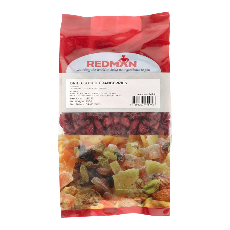 DRIED SWEET CRANBERRY 250G image number 0