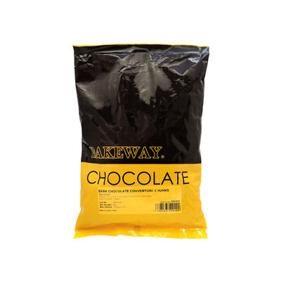 BAKEWAY DARK CHOCOLATE COUVERTURE CHUNKS 1KG