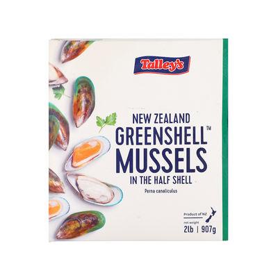 NZ MUSSELS HALF SHELL FROZEN 907G
