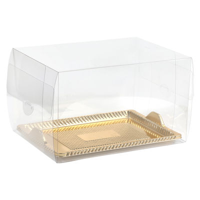 REDMAN CLEAR CAKE CASE WITH GOLD TRAY (K21)
