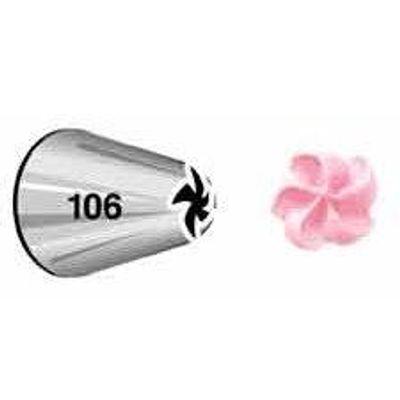 WILTON PIPING TIP DROP FLOWER #106 402-106