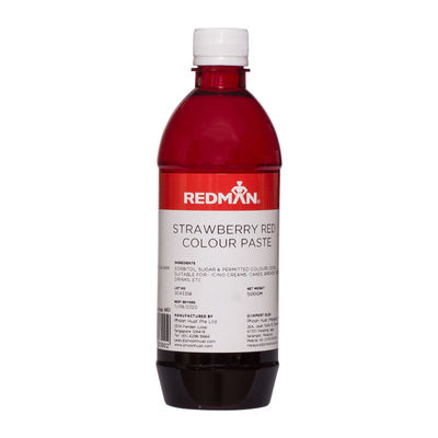 REDMAN STRAWBERRY RED COLOUR PASTE 500G