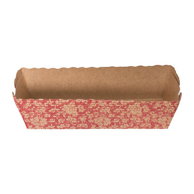 REDMAN RED CORRUGATED RECTANGLE TRAY 50PCS