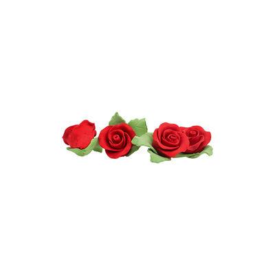 REDMAN GUMPASTE FLOWER- RED MKKD 28PCS 4X4CM