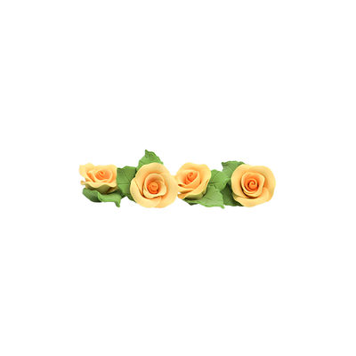 REDMAN GUMPASTE FLOWER- YELLOW MKKD 28PCS 4X4CM