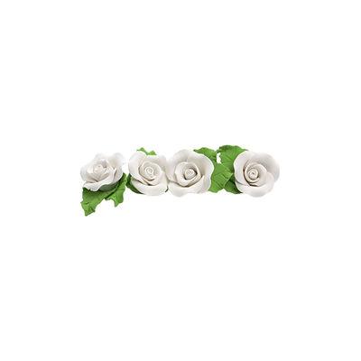 REDMAN GUMPASTE FLOWER- WHITE MKKD 28PCS 4X4CM