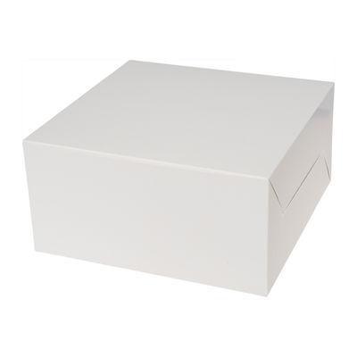 "REDMAN CAKE BOX PLAIN WHITE 10X10X5"" 5PCS"