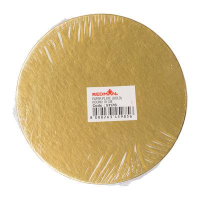 REDMAN PAPER PLATE (GOLD MAT) RD 10CM