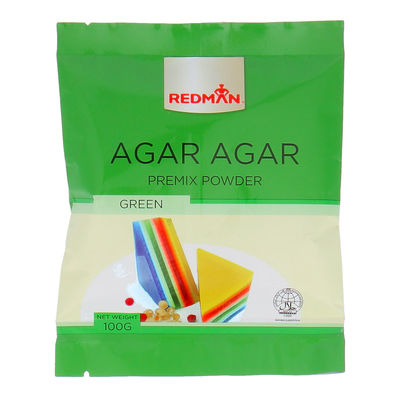 REDMAN AGAR AGAR PREMIX POWDER GREEN 100G