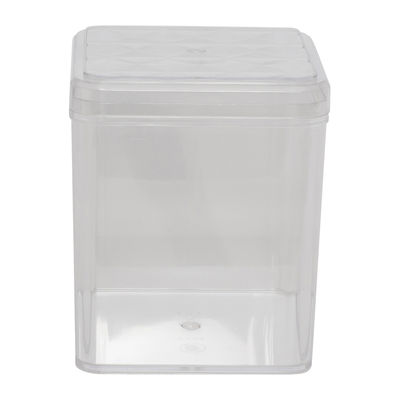 FUFONG CLEAR SQUARE PS CONTAINER 110X110XH123MM FF2704