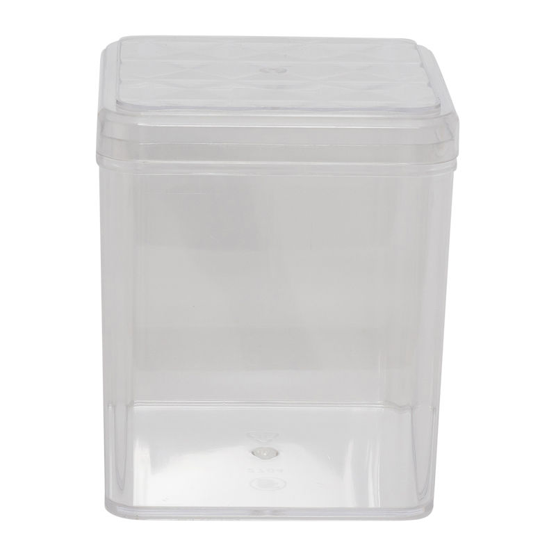 FUFONG CLEAR SQUARE PS CONTAINER 110X110XH123MM FF2704 image number 0