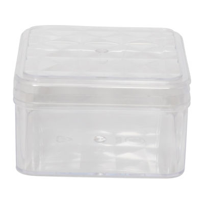 FUFONG CLEAR SQUARE PS CONTAINER 110X110XH60MM FF2708