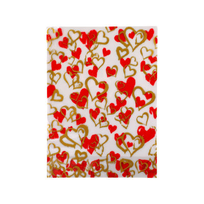 REDMAN COOKIE BAG HEARTS 4192 16X22CM  10PCS