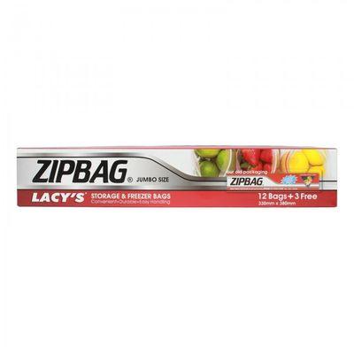 LACY'S ZIPBAG JUMBO SIZE 330MMX380MM (BOXX12PC + 3PC FREE)