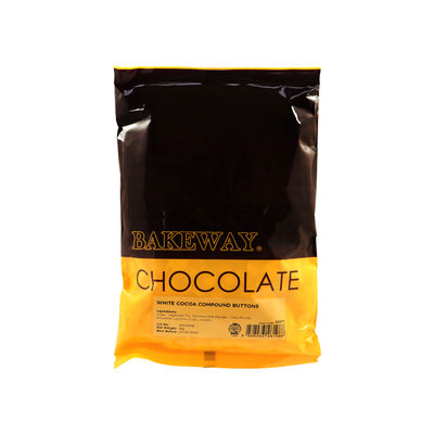BAKEWAY WHITE COCOA COMPOUND BUTTONS 1KG