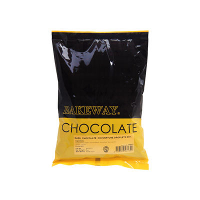 BAKEWAY DARK CHOCOLATE COUVERTURE DROPLETS 60% 1KG