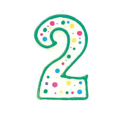 WILTON BIRTHDAY CANDLE #2 BLUE 2811-9102