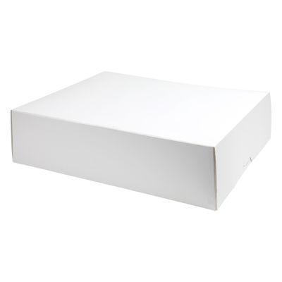 "REDMAN CAKE BOX PLAIN WHITE 15X19X5"" 2PCS"