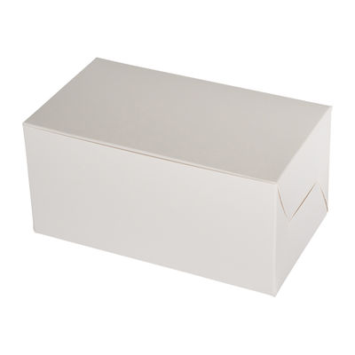 "REDMAN CAKE BOX PLAIN WHITE 7X4X3.5"" 5PCS"