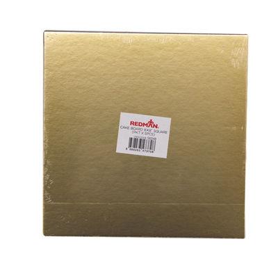 "REDMAN CAKEBOARD 8"" SQUARE/GOLD 5PCS"