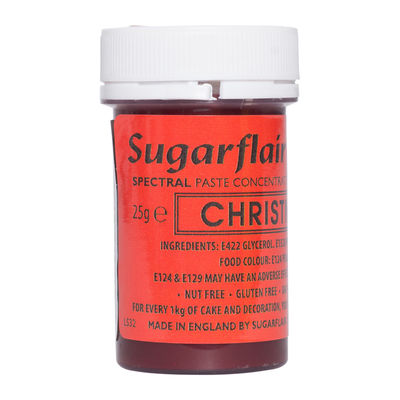 SUGARFLAIR COLOR CONCENTRATED PASTE-XMAS RED A114