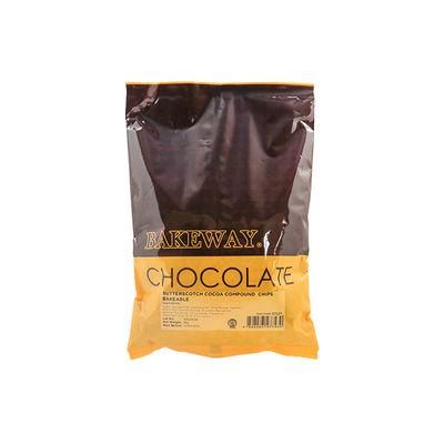 BAKEWAY BUTTERSCOTCH COCOA COMPOUND CHIPS BAKEABLE 1KG