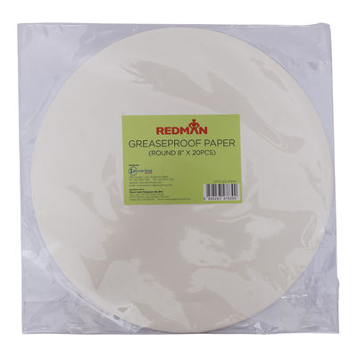 """REDMAN GREASEPROOF PAPER ROUND  8"""" (20PC)"""