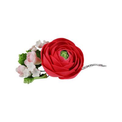 REDMAN GUMPASTE FLOWER- RED ROSE 10X12CM