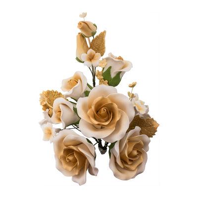 GUM PASTE FLOWER (L) ROSE GOLD 14X21CM