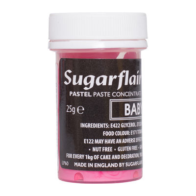 SUGARFLAIR COLOR CONCENTRATED PASTE-BABY PINK 25G