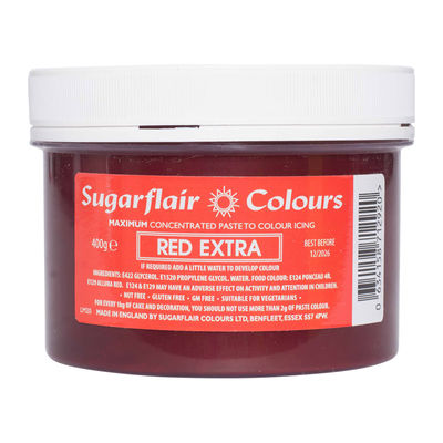SUGARFLAIR MAX CONCENTRATED COLOR PASTE-RED EXTRA 400G C201