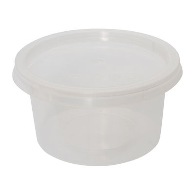MS ROUND CONTAINER WITH LID 100ML MS4 100PC