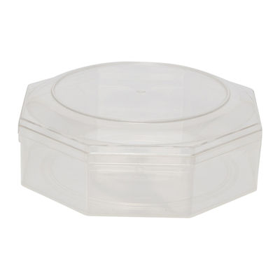 FUFONG CLEAR OCTAGON PS CONTAINER 140X140XH50MM FF2808