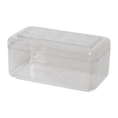 FUFONG CLEAR RECTANGLE PS CONTAINER 143X75XH70MM FF2705