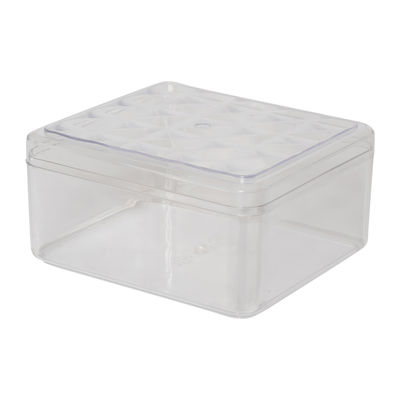 FUFONG CLEAR RECTANGLE PS CONTAINER 120X136XH68MM FF2706