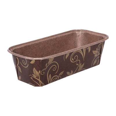 ECOPACK PLUM LOAF PAN MOULD BROWN/GOLD 158X55 5PC