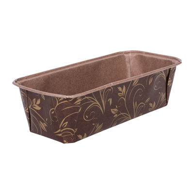 ECOPACK PLUM LOAF PAN MOULD BROWN/GOLD 199X73 5PC