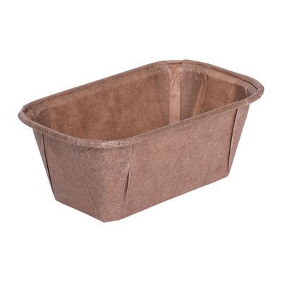 ECOPACK PLUM LOAF PAN MOULD BROWN 80X40 10PC